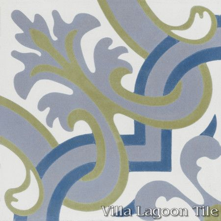 Madeira Spring cement tile, from Villa Lagoon Tile.