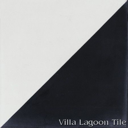 Man Overboard Black & White cement tile, from Villa Lagoon Tile.