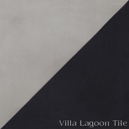 Man Overboard Featherstone & Black cement tile, from Villa Lagoon Tile.