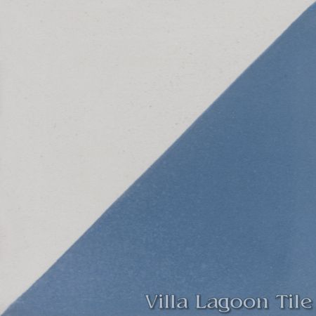 Man Overboard cement tile, in Washed Denim & White, from Villa Lagoon Tile.