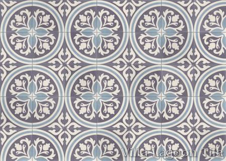 Mia cement tile, from Villa Lagoon Tile.