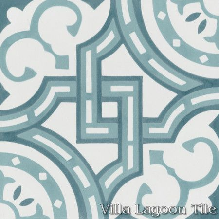 Michael Velvet Sky cement tile, from Villa Lagoon Tile.