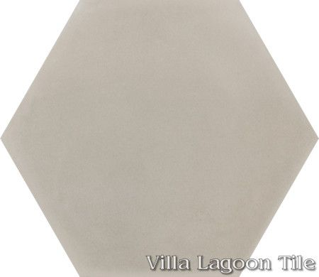 "Mixed Pastel Hex Cement Tile, ""Dune"", from Villa Lagoon Tile."