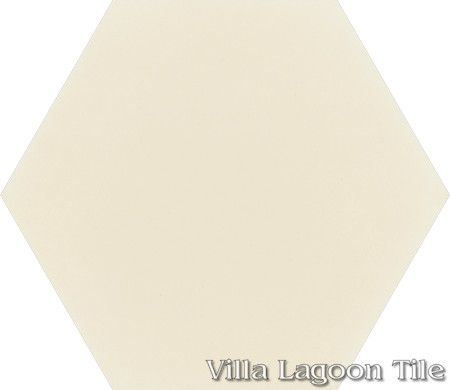 "Mixed Pastel Hex Cement Tile, ""Whipped Cream"", from Villa Lagoon Tile."