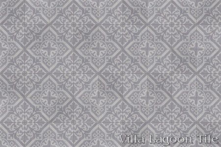 Nuevo Castillo Carrara cement tile, in a 9x6 layout.