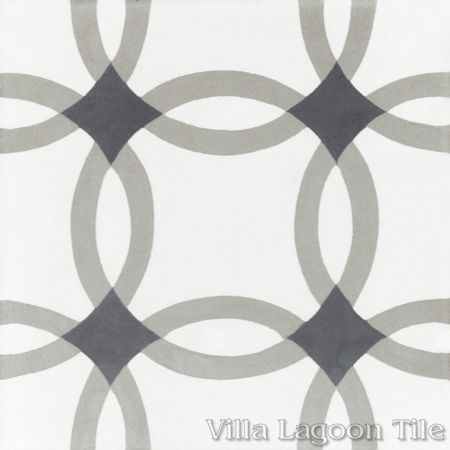 Omni Petite cement tile, from Villa Lagoon Tile.