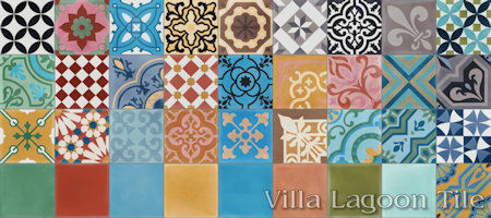 Patchwork Patterns, From Villa Lagoon Tile