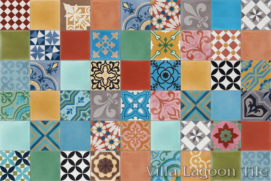Click For Larger Image Patchwork Cement Tile From Villa Lagoon