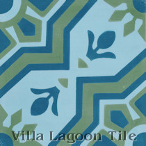 Aztec Sun B Cement Tile, from Villa Lagoon Tile