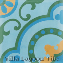 Bordeaux Cement Tile, from Villa Lagoon Tile