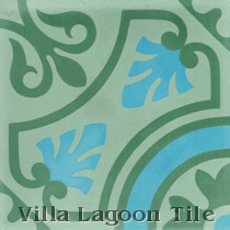 Castile Cement Tile, from Villa Lagoon Tile