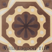 Clockwork Flower Cement Tile, from Villa Lagoon Tile