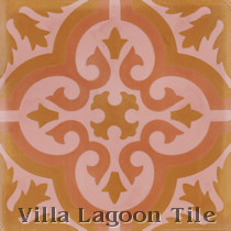 Fiore F Cement Tile, from Villa Lagoon Tile