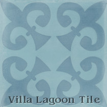 Fleur de Four Cement Tile, from Villa Lagoon Tile