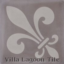 Fleur de Lis A Cement Tile, from Villa Lagoon Tile