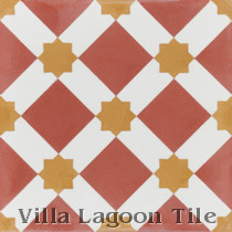 Lattice Cement Tile, from Villa Lagoon Tile