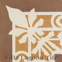 Lush Border Corner Cement Tile, from Villa Lagoon Tile