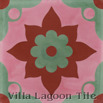 Omar Sharif B Cement Tile, from Villa Lagoon Tile
