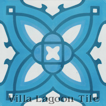 Poinsettia Cement Tile, from Villa Lagoon Tile