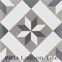 Small Star Lattice Cement Tile, from Villa Lagoon Tile