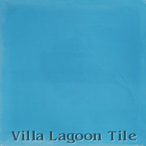Solid Azure Cement Tile, from Villa Lagoon Tile