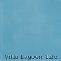 Solid Brilliant Sea Cement Tile, from Villa Lagoon Tile
