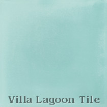 Solid Seaside Blue Cement Tile, from Villa Lagoon Tile