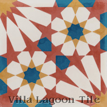 Tangier Cement Tile, from Villa Lagoon Tile