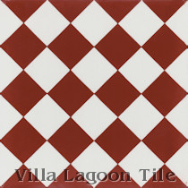 Thirty-Two Check on Point Cement Tile, from Villa Lagoon Tile
