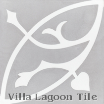 Boden H Cement Tile, from Villa Lagoon Tile