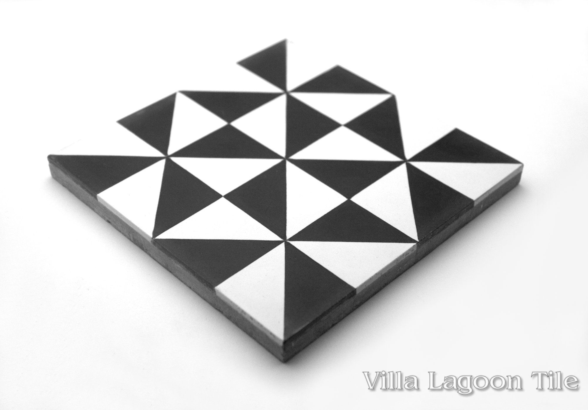Pinwheel A Black White Cement Tile Villa Lagoon Tile