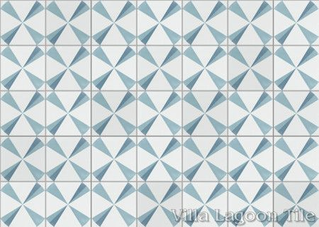 Polaris Azul cement tile, from Villa Lagoon Tile.