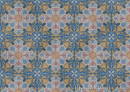 Rumba Magnifico cement tile, from Villa Lagoon Tile.