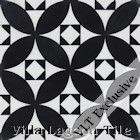 """Saint Mark's Black and White One"" Cement Tile"