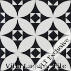 """Saint Mark's Black and White Two"" Cement Tile"