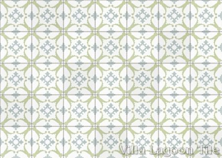 San Antonio CU-1701 cement tile, from Villa Lagoon Tile.