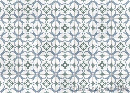 San Antonio CU-1801 cement tile, from Villa Lagoon Tile.