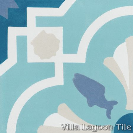 Savona A Seaside cement tile, exclusively from Villa Lagoon Tile.
