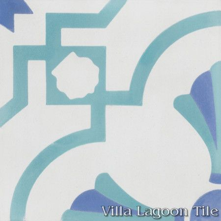 Savona B Palm Beach cement tile, exclusively from Villa Lagoon Tile.