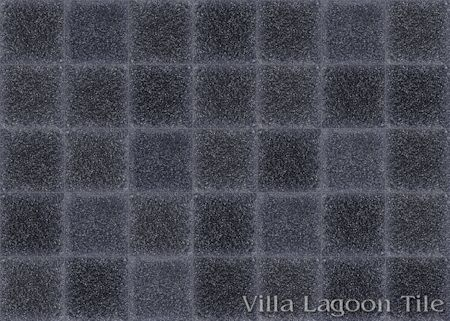 Solid Black Terrazzo cement tile kitchen floor, from Villa Lagoon Tile.
