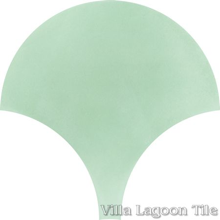 Solid Fishscale Mint To Be cement tile, from Villa Lagoon Tile.