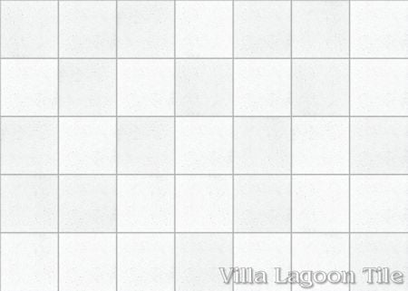 Solid White Terrazzo cement tile kitchen floor, from Villa Lagoon Tile.