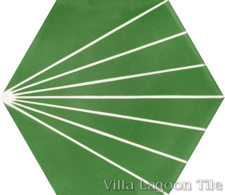 """Spark C Monte Verde"" hex cement tile, from Villa Lagoon Tile."