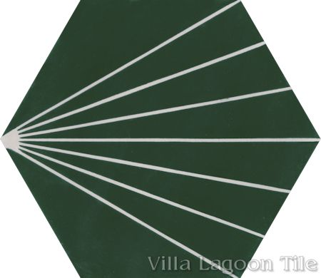 """Spark C Summer"" hex cement tile, from Villa Lagoon Tile."
