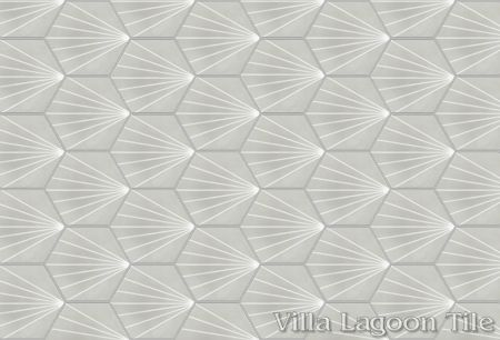 """Spark C Winter"" hex cement tile, from Villa Lagoon Tile."