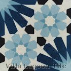 """Tangier Blues"" Cement Tile from Villa Lagoon Tile"