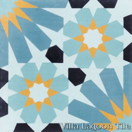 Tangier Primero cement tile, from Villa Lagoon Tile.