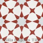 """Taza Red"" Cement Tile"