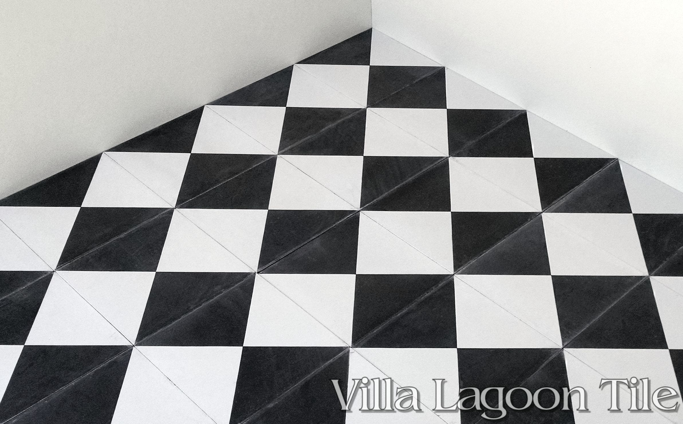 Tugboat Black White Cement Tile Villa Lagoon Tile