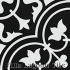 """Tulips C Black and White Two"" Cement Tile, from Villa Lagoon Tile."